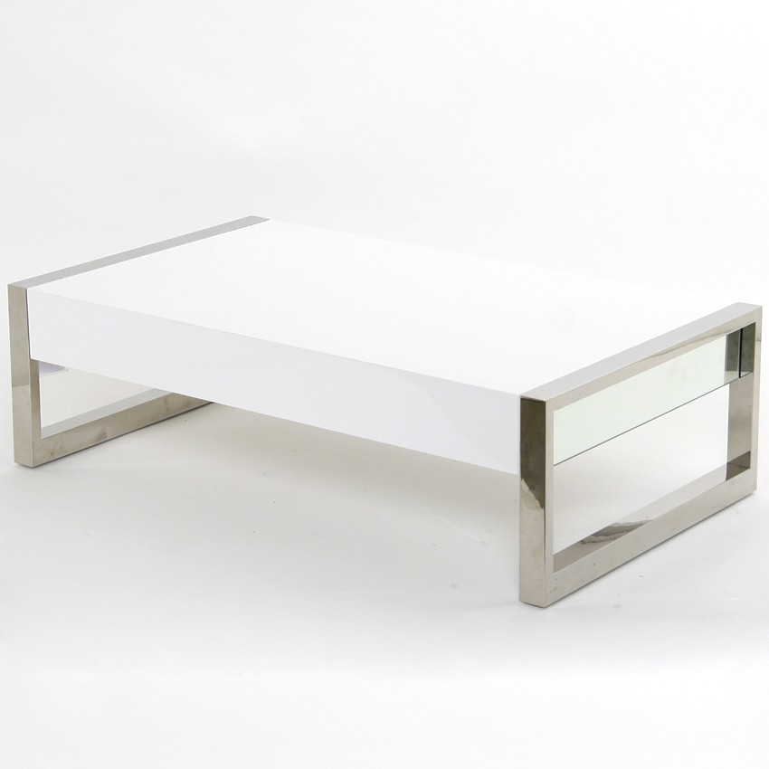Image of: White Lacquer Table Coffee