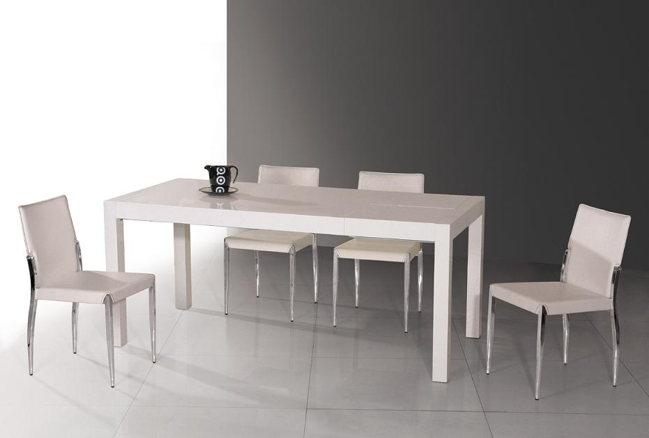 Image of: White Lacquer Table Dining