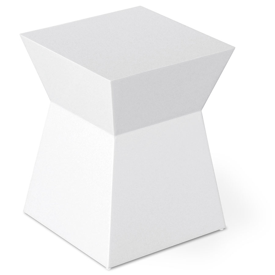 Image of: White Lacquer Table End