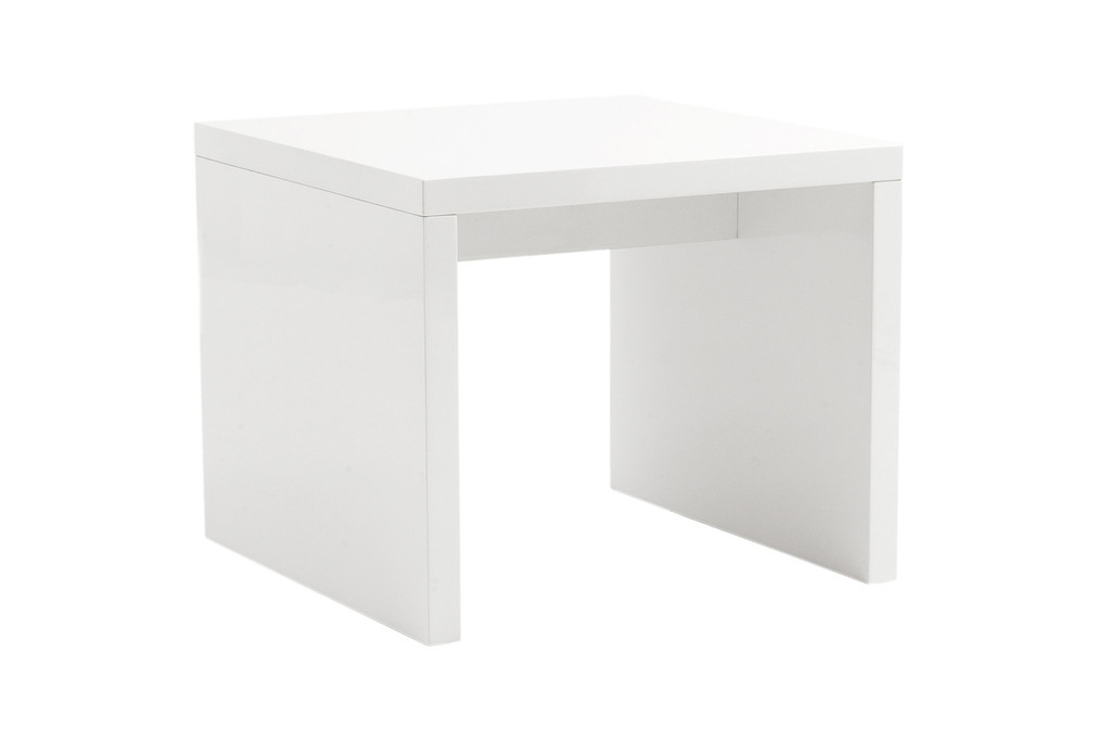 Image of: White Lacquer Table Side