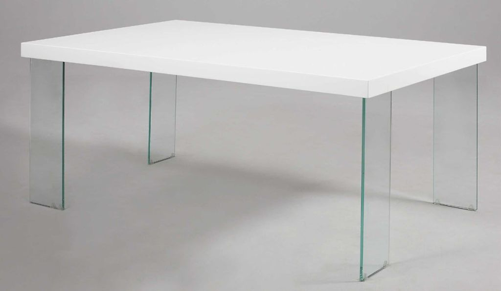 Image of: White Lacquer Table Top Ideas