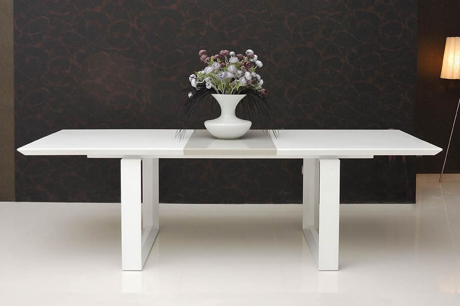 Image of: White Lacquer Table