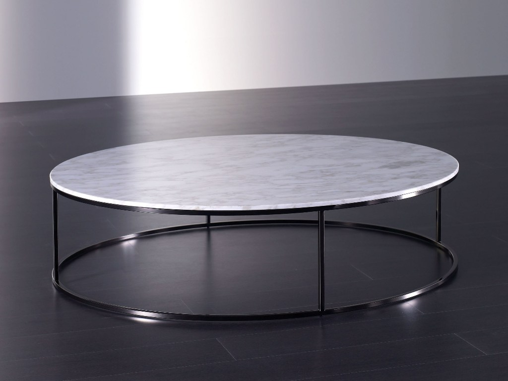 Image of: White Marble Coffee Table Design