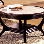 White Marble Coffee Table With Wood Frame