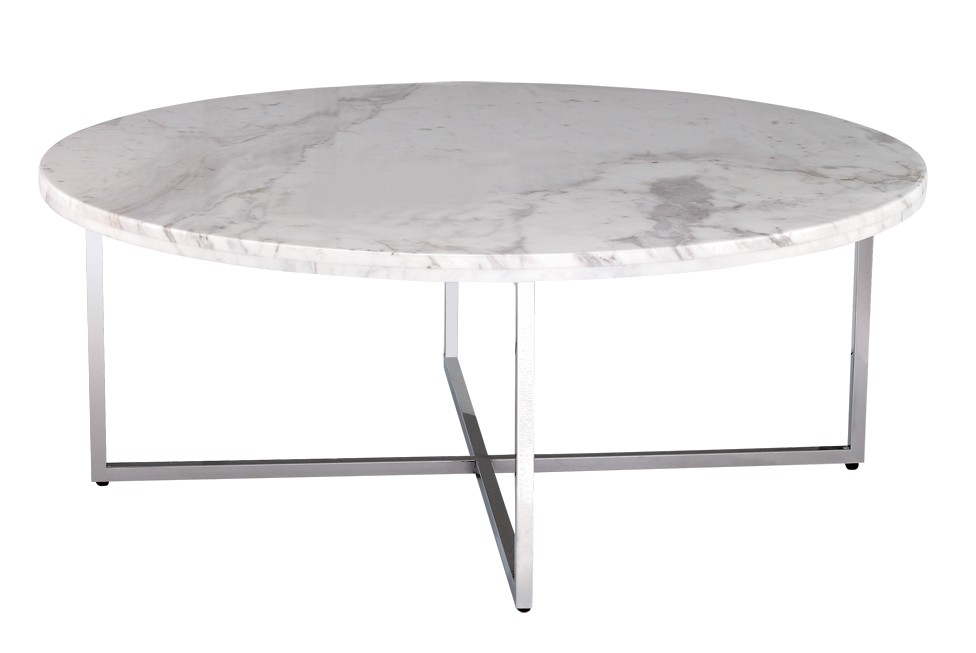 Image of: White Marble Coffee Table
