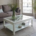 White Rustic Wood Coffee Table