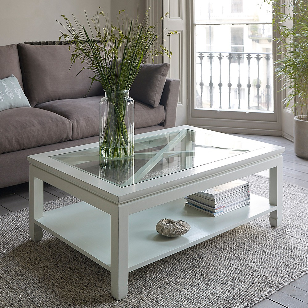 Picture of: White Rustic Wood Coffee Table