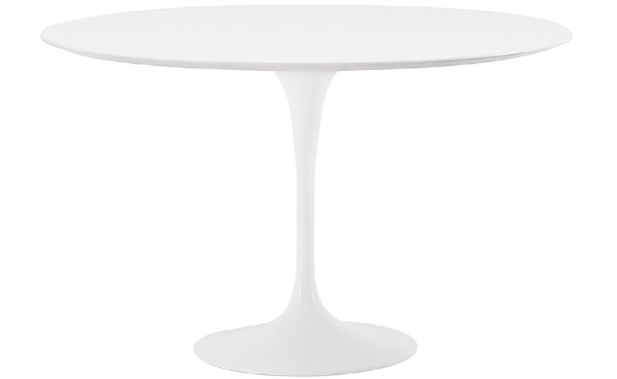 Image of: White Tulip Table Side