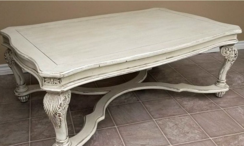 Picture of: White distressed coffee table