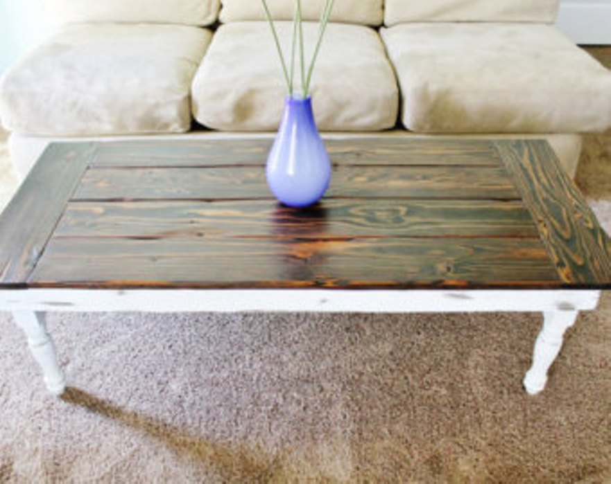 Picture of: White Distressed Wood Coffee Tables