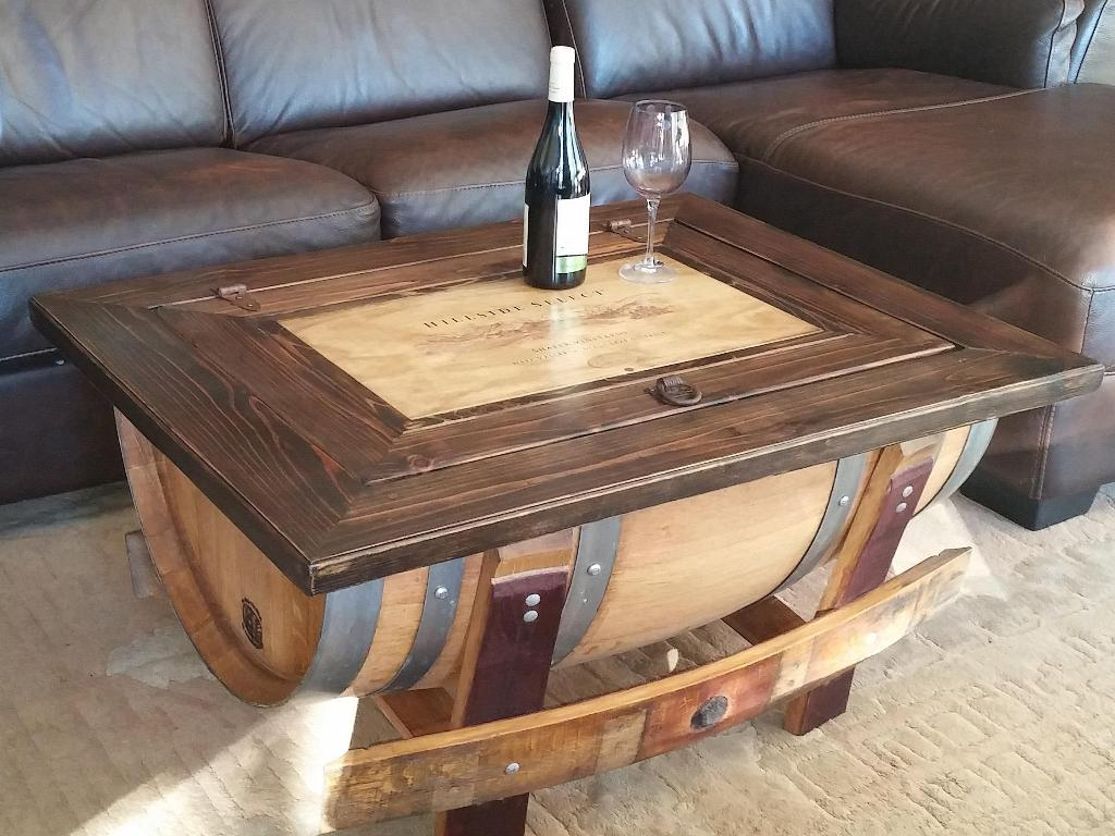 Wine Barrel Coffee Table Furniture
