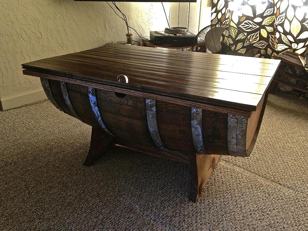 Picture of: Wine Barrel Coffee Table