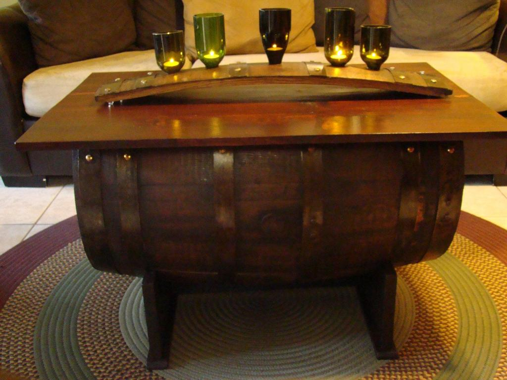Picture of: Wine Barrel Table Bar