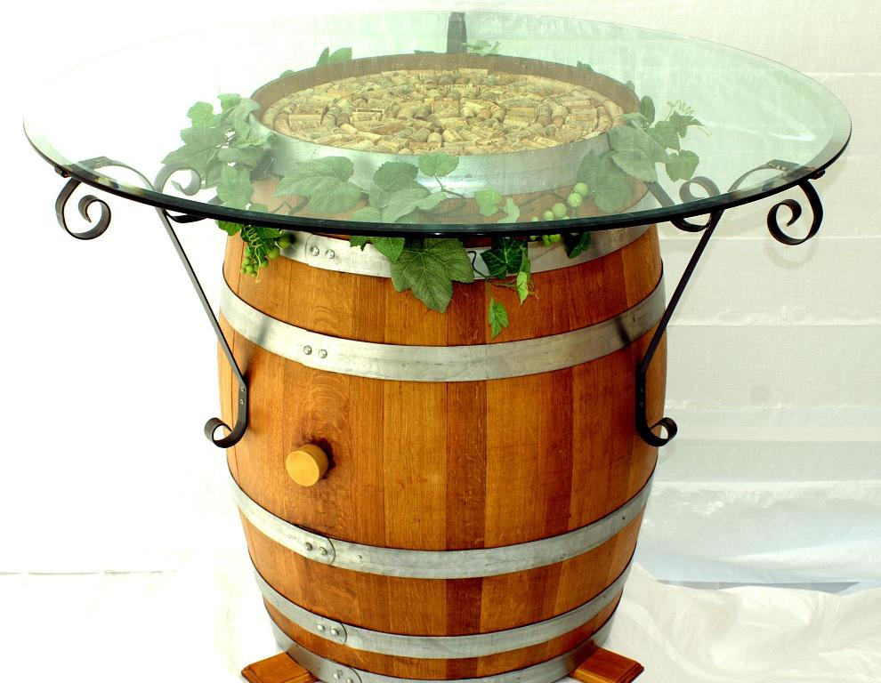 Wine Barrel Table Brackets