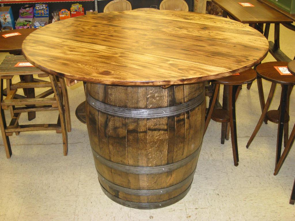 Wine Barrel Table Diy
