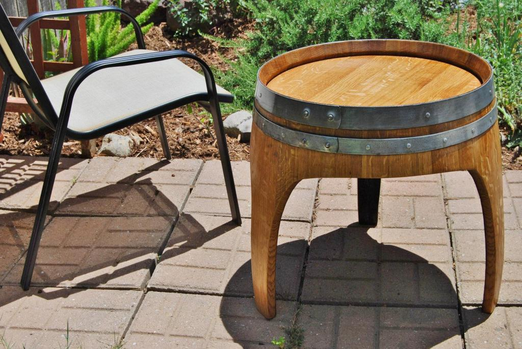 Picture of: Wine Barrel Table Set