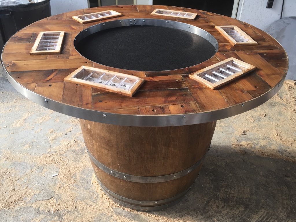 Wine Barrel Table Top Ideas
