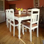 Wonderful Distressed Wood Dining Table