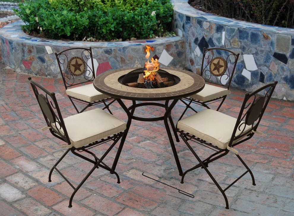 Picture of: Wood Burning Fire Pit Table Ideas