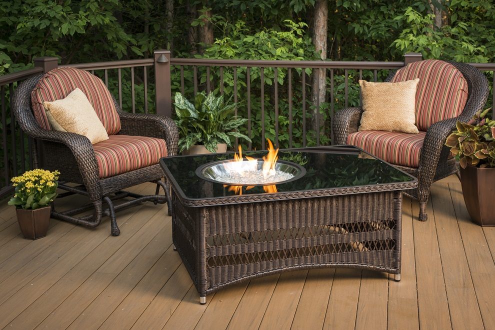 Image of: Wood Burning Fire Pit Table Modern