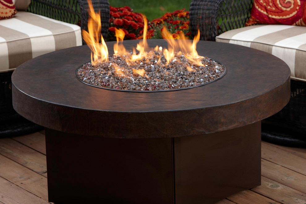 Picture of: Wood Burning Fire Pit Table Round