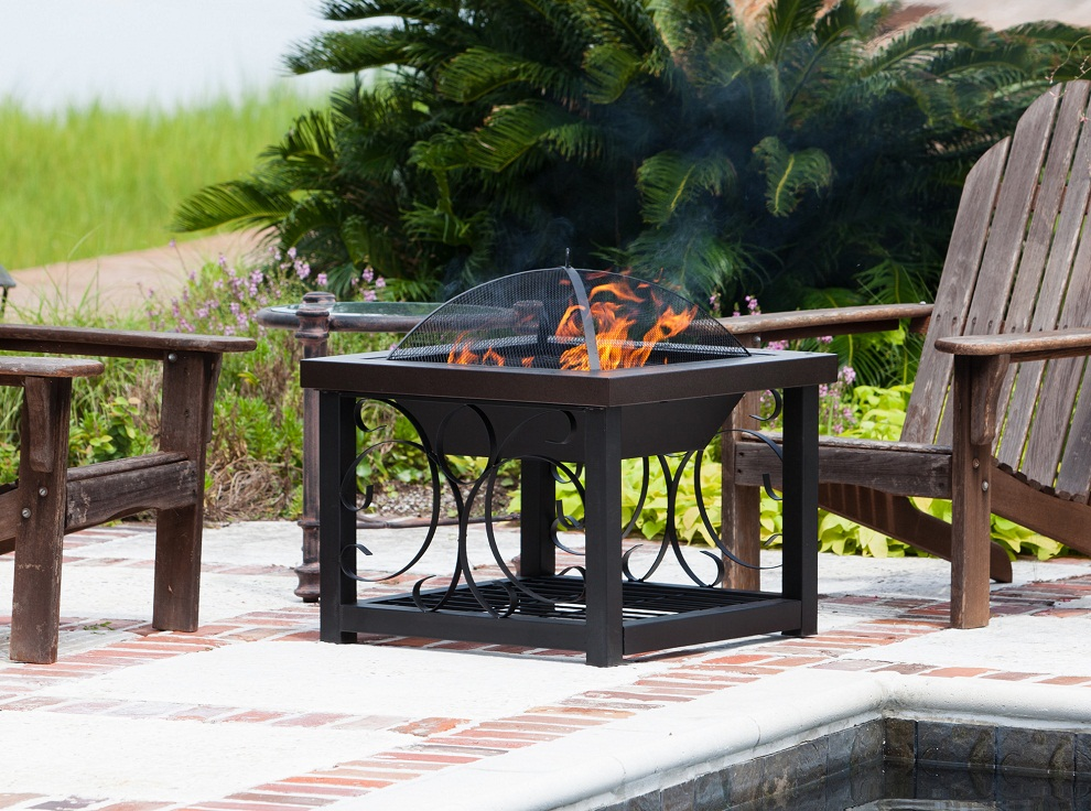 Image of: Wood Burning Fire Pit Table Style