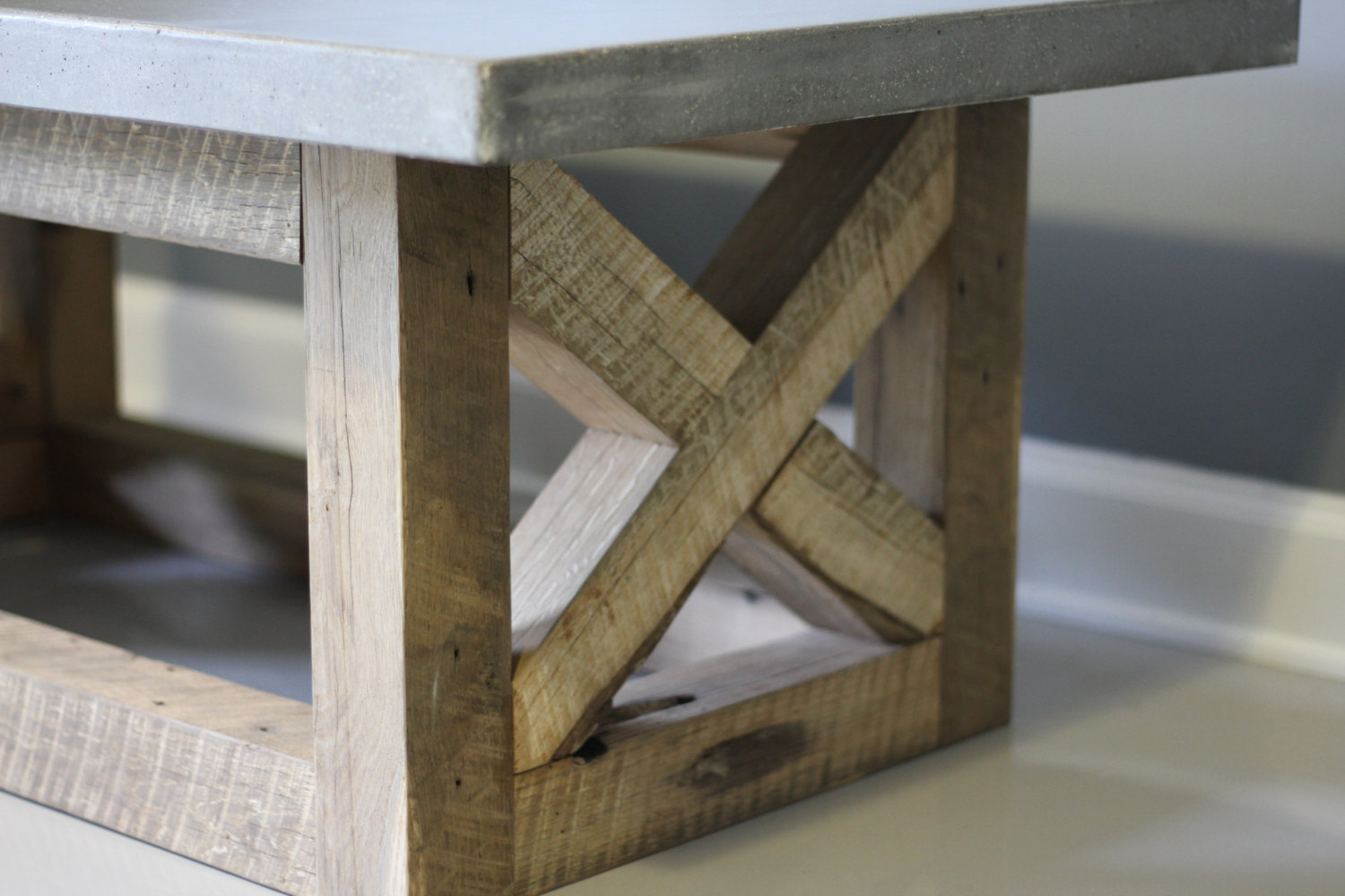 Image of: Wood Concrete Coffee Table