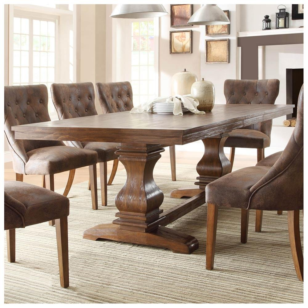 Image of: Wood Distressed Dining Room Table