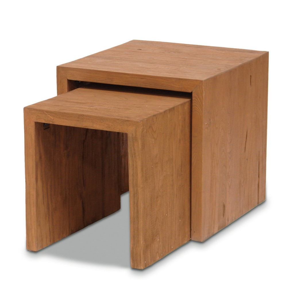 Wood Nesting Tables Style