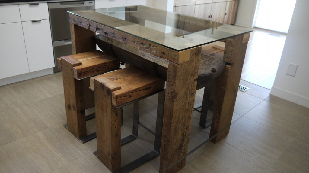Image of: Wood Slab Dining Table Design