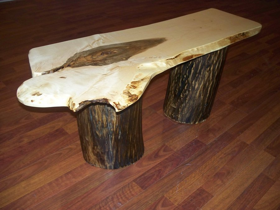 Picture of: Wood Stump Coffee Table Antique