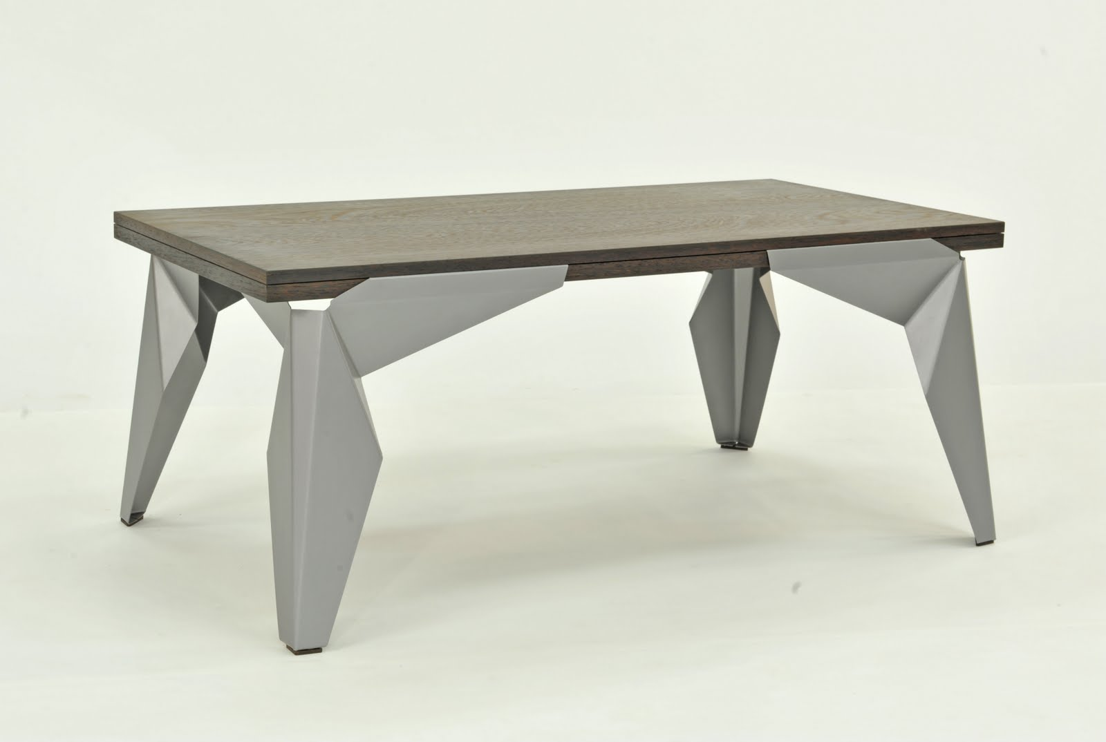 Picture of: Wood Table with Metal Legs Design