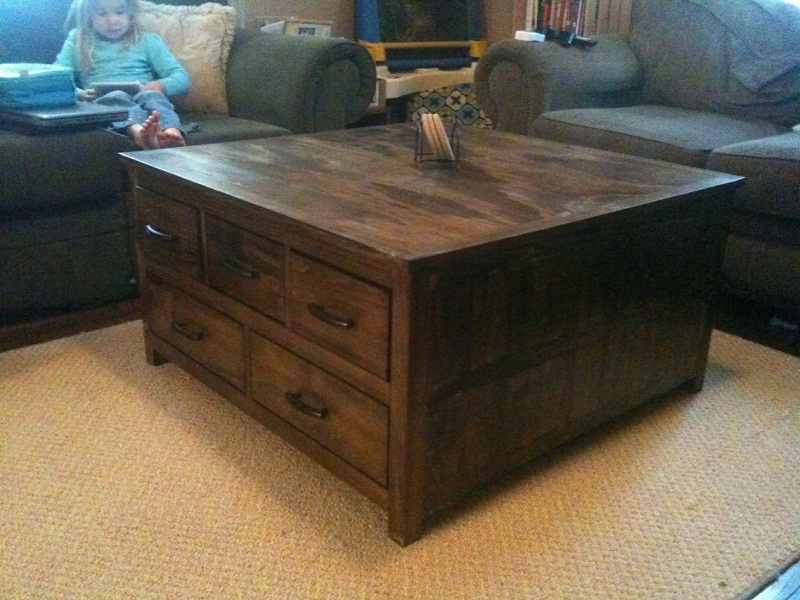 Wood Trunk Coffee Table Design