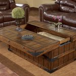 Wood Trunk Coffee Table Style