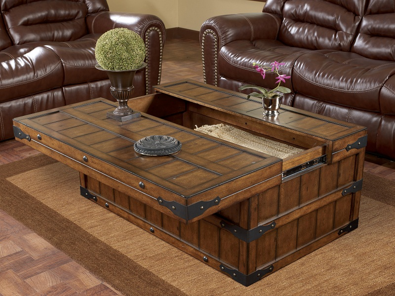 Picture of: Wood Trunk Coffee Table Style