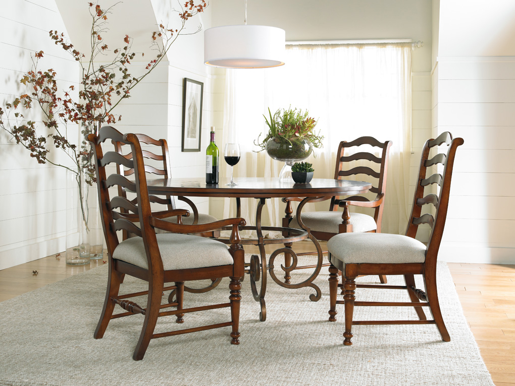 Picture of: wood and metal dining table sets