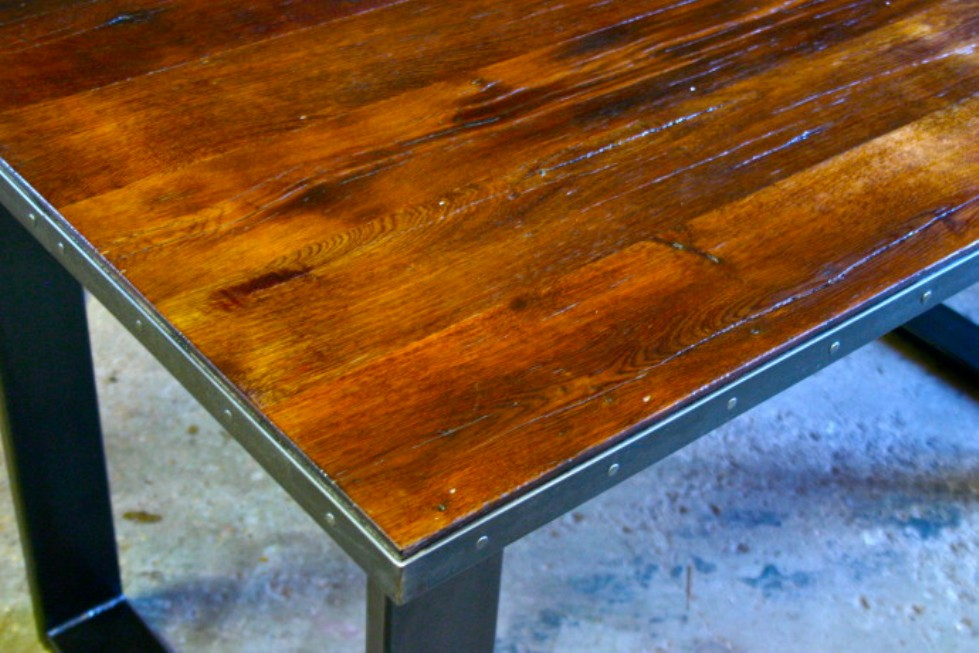 Image of: Wood table tops Lowes