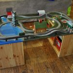 Wooden Train Table With Storage