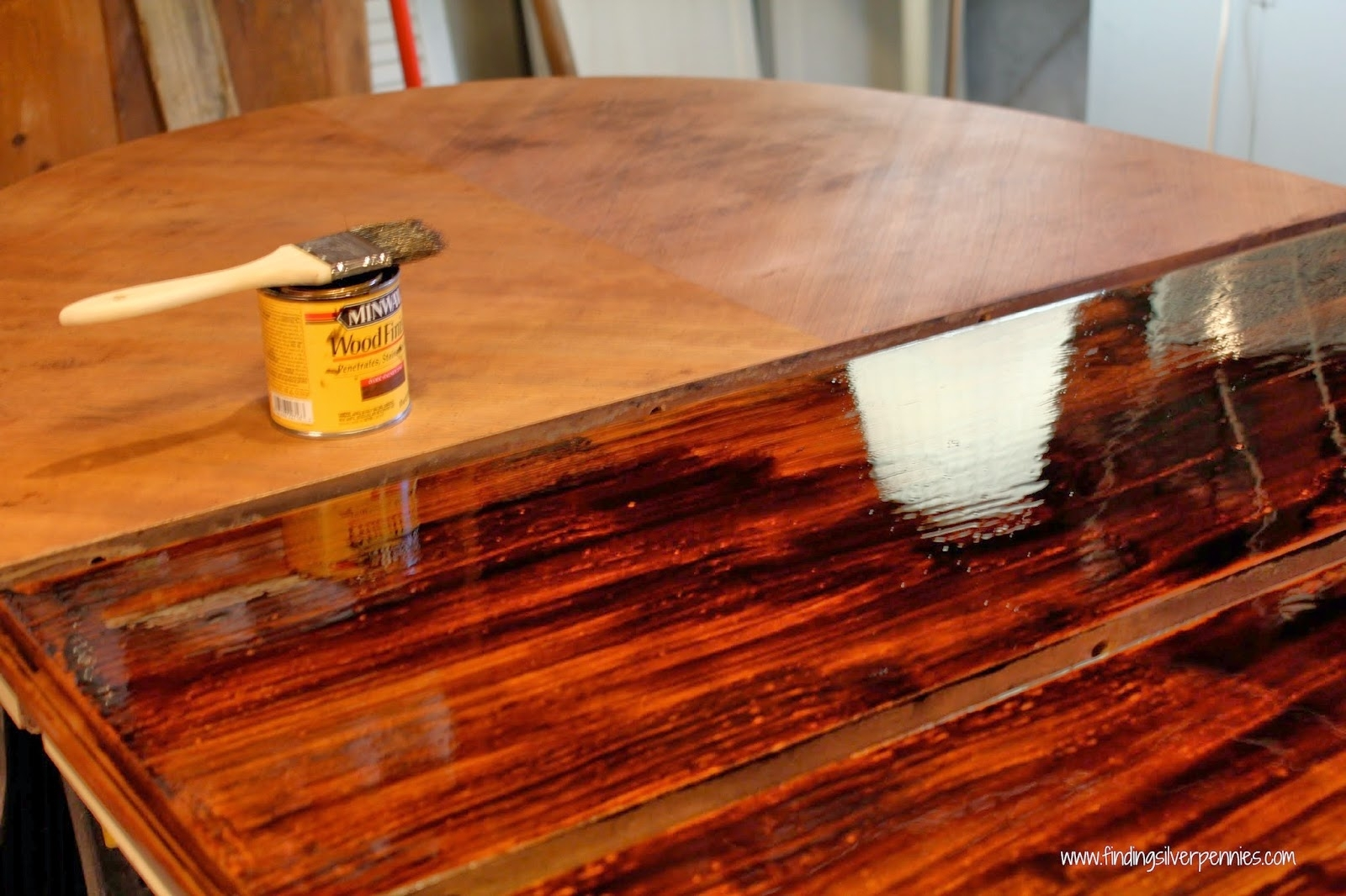 Image of: Amusing How To Refinish Wood Table