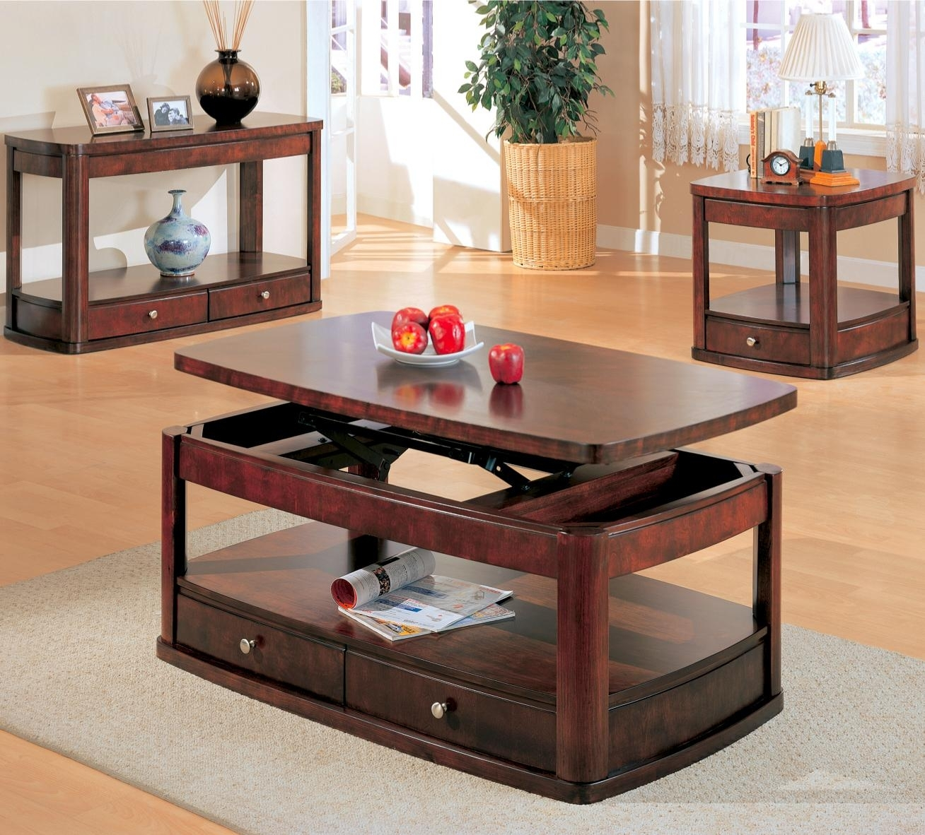 Picture of: Beautiful Lift Top End Tables