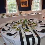 Black And White Striped Tablecloth Roll