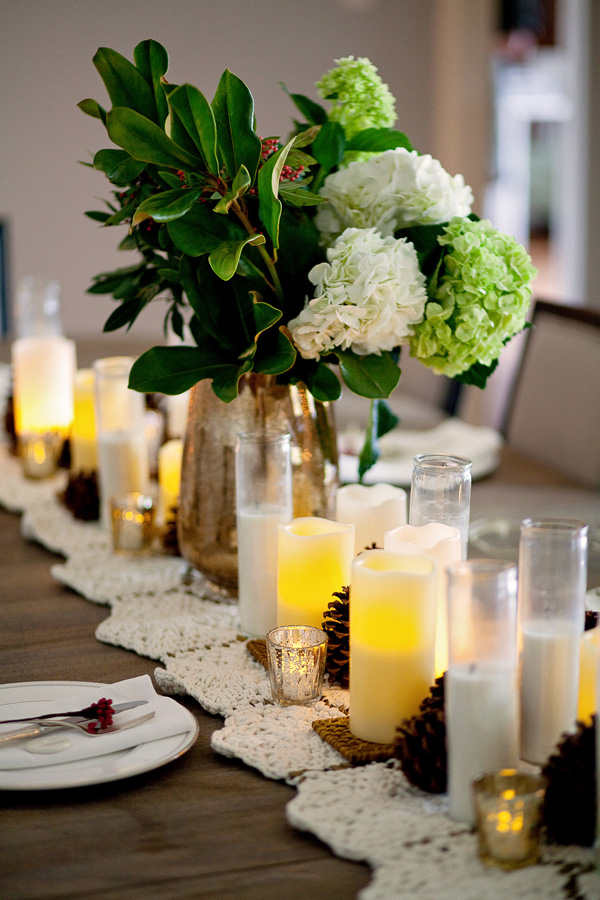 Image of: candle dining table centerpiece ideas
