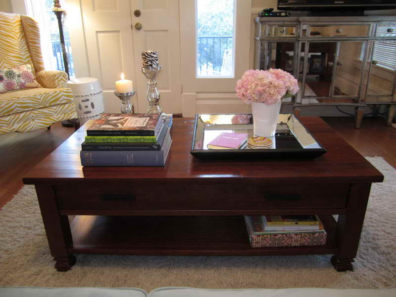 Picture of: coffee table decor with books