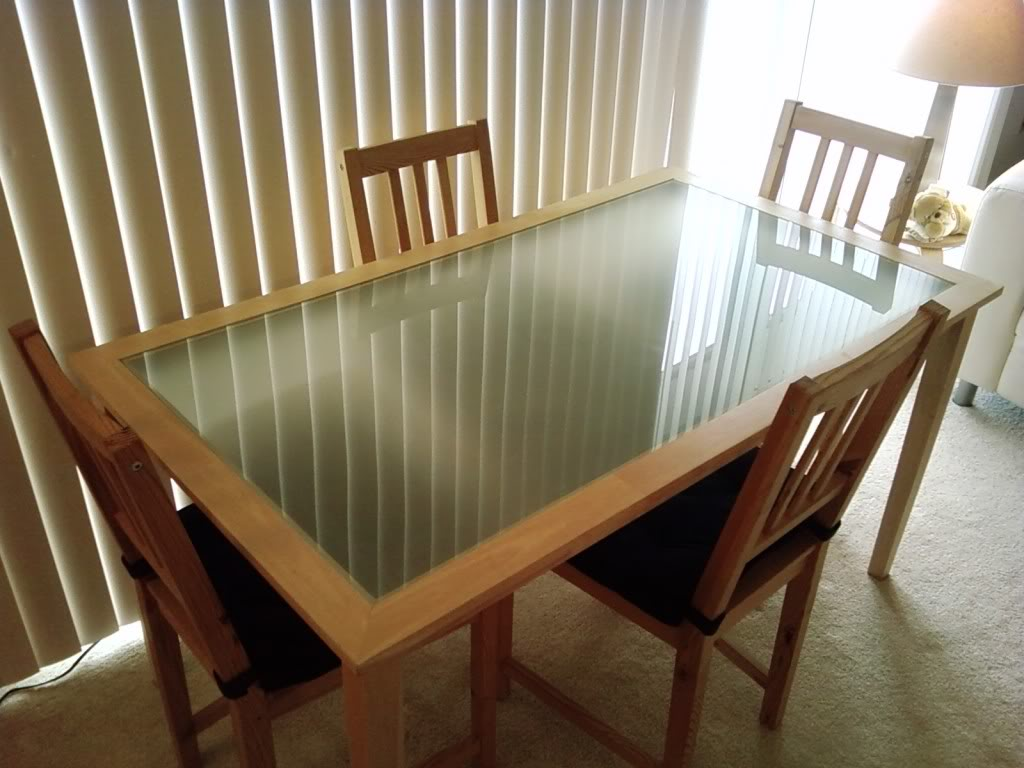 Image of: cozy glass dining table ikea