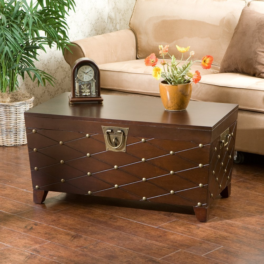 Picture of: exclusive brown trunk coffee table