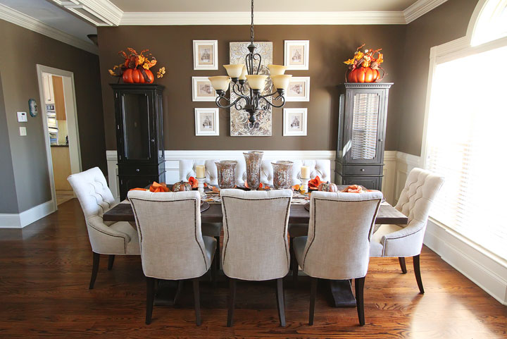 Image of: fall dining table centerpiece ideas