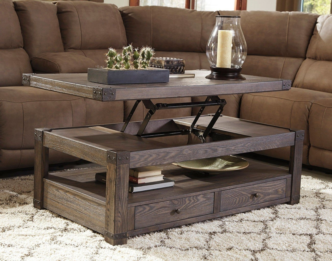 Picture of: Fantastic Lift Top End Table
