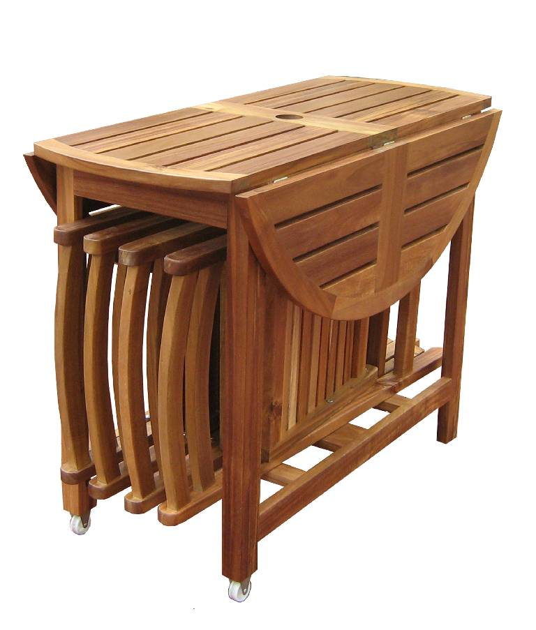 Image of: folding dining table sets