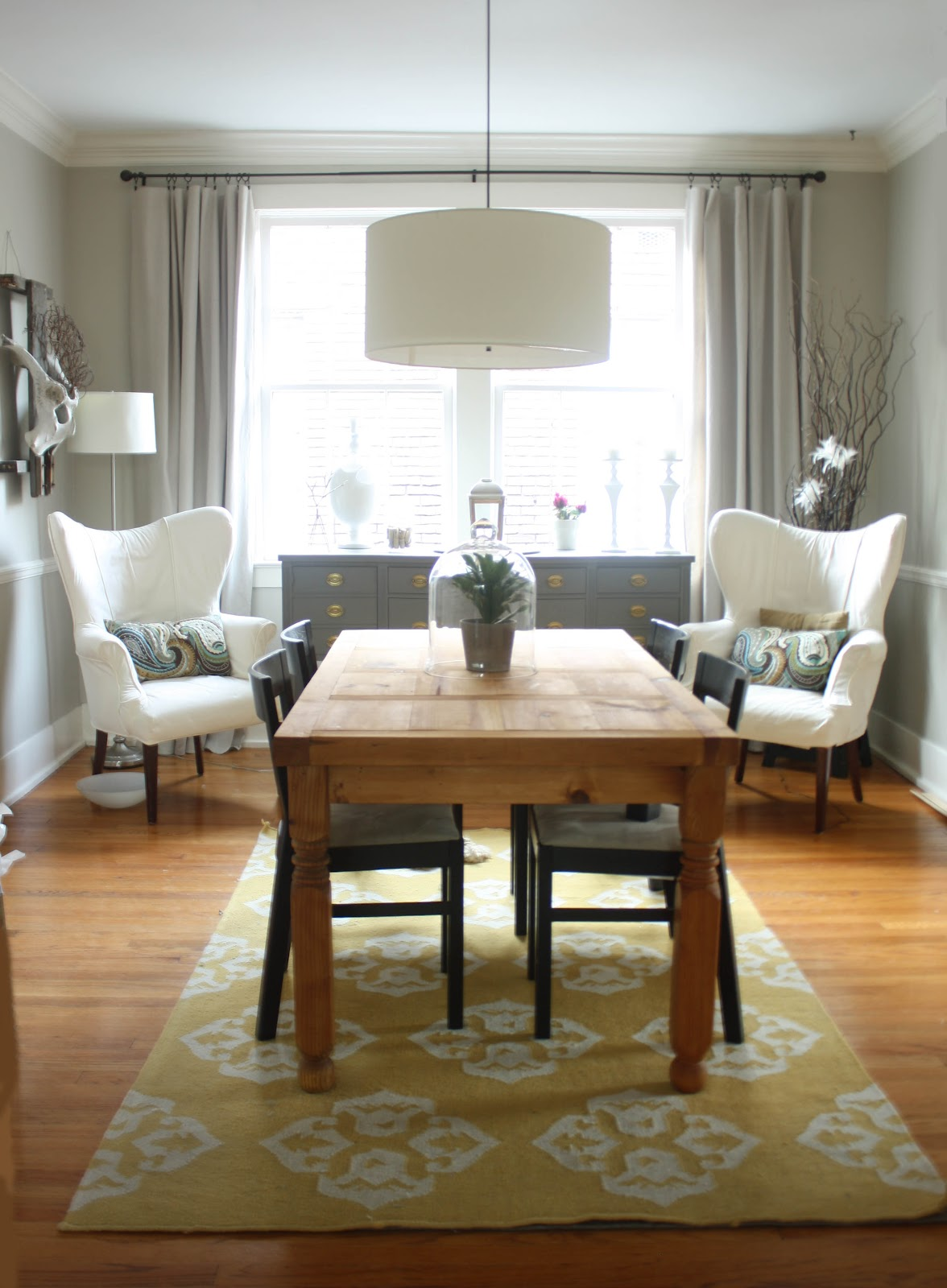 Image of: furniture birch dining table