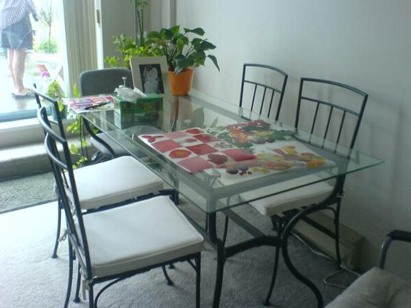 Image of: glass dining table ikea and chairs